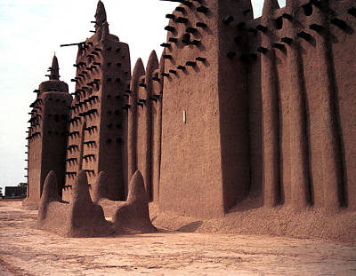 Architecture Photograph - Djenne 1985 by Huib Blom