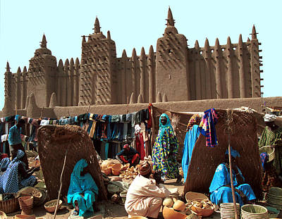 Architecture Photograph - Djenne 1986 by Huib Blom