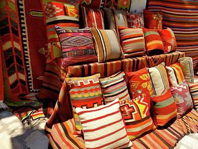 Exploramum Photograph - Djerba Cushion Time by Exploramum Exploramum