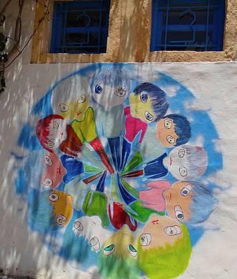 World Schooling Photograph - Djerba Street Art - Children Of The World by Exploramum Exploramum