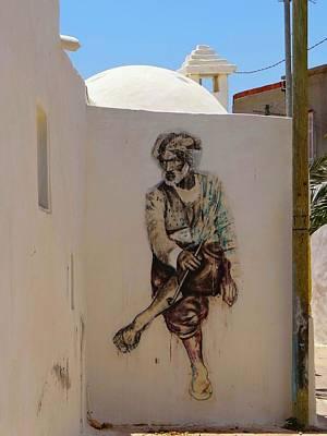Exploramum Photograph - Djerba Street Art - Tunisia Man by Exploramum Exploramum