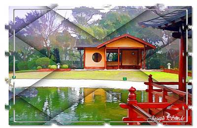 Photograph - Djg-0004 Pavilion View Of Teahouse by Digital Oil