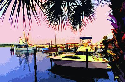 Painting - Dj's Marina by CHAZ Daugherty