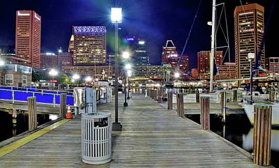 Photograph - On The Docks In Baltimore by Frozen in Time Fine Art Photography