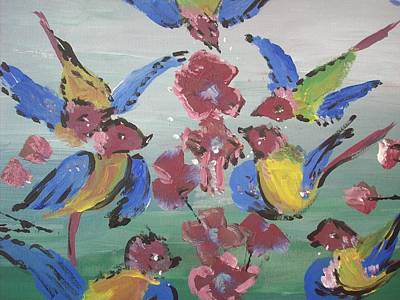 Art Print featuring the painting Dlyg Birdsong by Judith Desrosiers