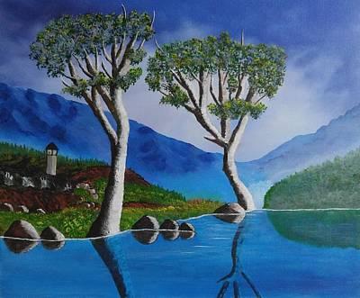 Dmz South Korea River Art Print