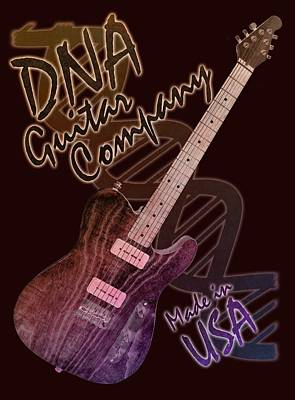 Photograph - Dna Guitar Company T Shirt 2 by WB Johnston