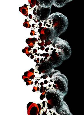 Dna Molecule, Computer Artwork Art Print
