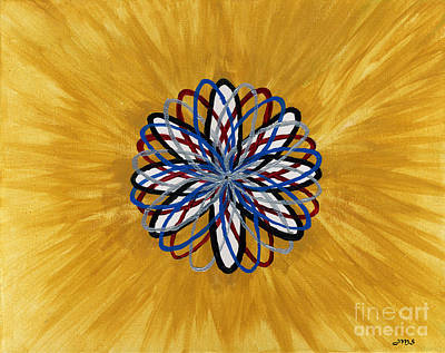 Chakra Painting - Dna Portal by Julia Stubbe