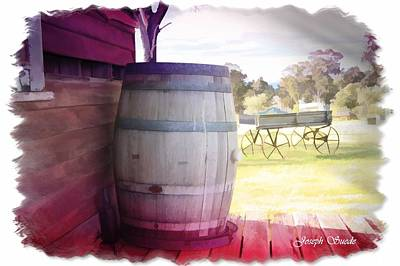 Photograph - Do-000029 Barrel In Wine Colour Background by Digital Oil
