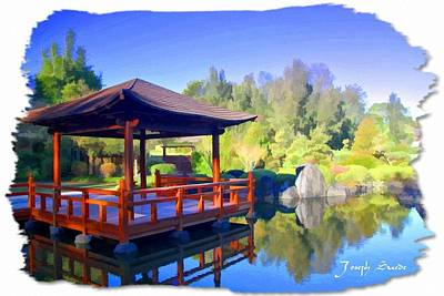 Do-00003 Shinden Style Pavilion Art Print by Digital Oil