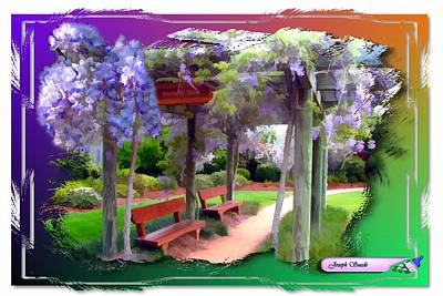 Photograph - Do-00011 Wisteria Walk by Digital Oil