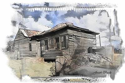 Photograph - Do-00024 Antique Cottage by Digital Oil