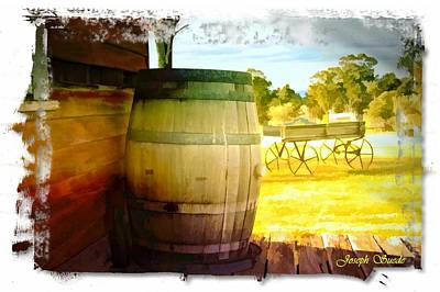 Photograph - Do-00030 Barrel In Yellow Background by Digital Oil