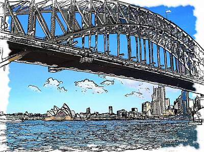 Photograph - Do-00058 Sydney Harbour Bridge And Opera House by Digital Oil