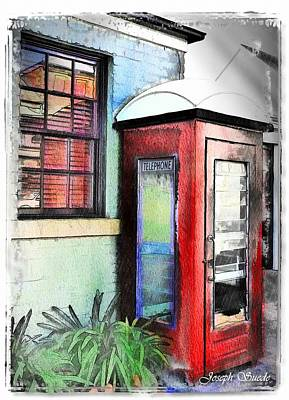 Do-00091 Telephone Booth In Morpeth Art Print by Digital Oil