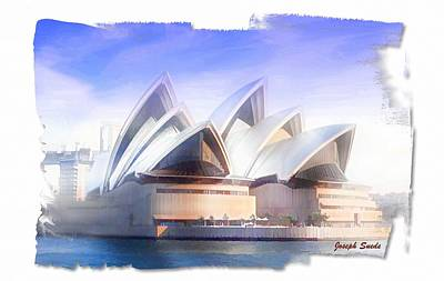 Digital Art - Do-00109 Opera House by Digital Oil