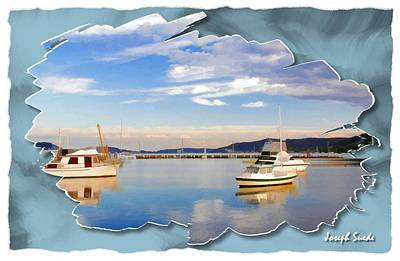 Photograph - Do-00115 Boats In Gosford by Digital Oil