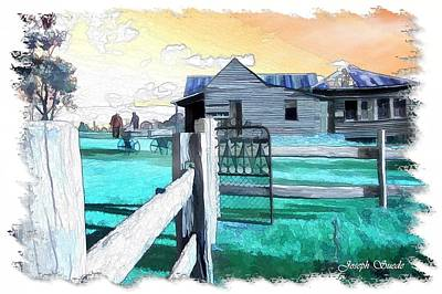 Photograph - Do-00120 Side Gate In A Farm by Digital Oil