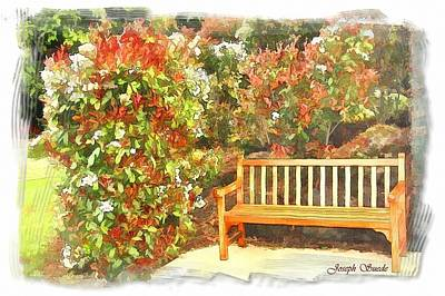 Photograph - Do-00122 Inviting Bench by Digital Oil