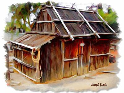 Art Print featuring the photograph Do-00129 Old Cottage by Digital Oil