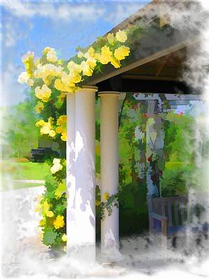 Photograph - Do-00137 Yellow Roses by Digital Oil