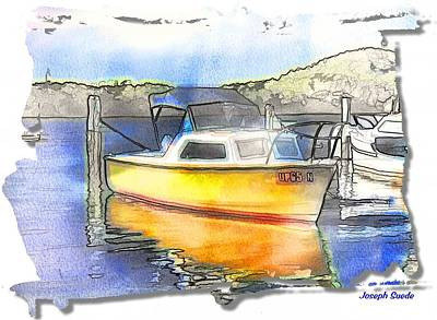 Photograph - Do-00146 Yellow Boat by Digital Oil