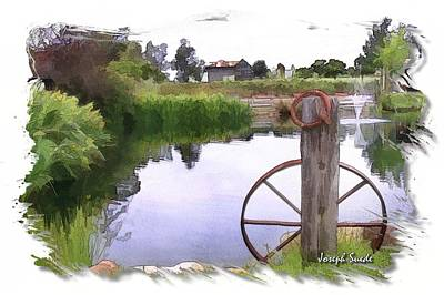 Photograph - Do-00150 Wheel And Scenery by Digital Oil