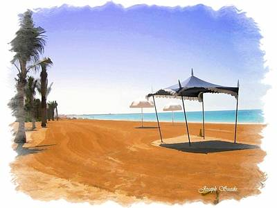 Photograph - Do-00155 Beach At Royal Mirage Hotel by Digital Oil