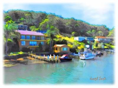 Photograph - Do-00242 Houses On Brisbane Water by Digital Oil
