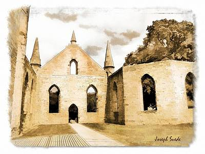 Photograph - Do-00248 Church At Port Arthur by Digital Oil