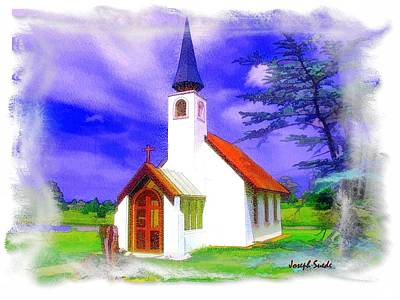 Photograph - Do-00259 Church In Grindelwald Swiss Village by Digital Oil