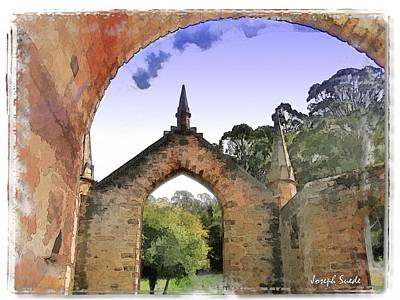 Photograph - Do-00261 Church Arch by Digital Oil
