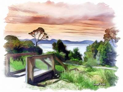 Do-00272 Look Out From Sarah Island Art Print by Digital Oil