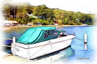 Photograph - Do-00276 Green Boat In Killcare by Digital Oil