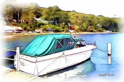 Photograph - Do-00276 Green Boat In Killcare by Digital Oil