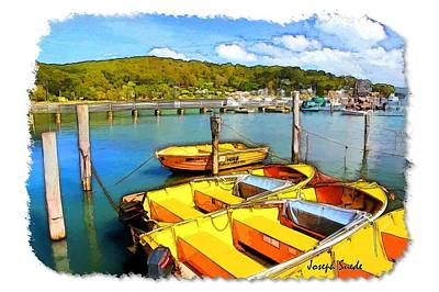 Photograph - Do-00278 Yellow Boats For Hire by Digital Oil