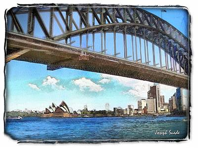 Photograph - Do-00284 Sydney Harbour Bridge And Opera House by Digital Oil