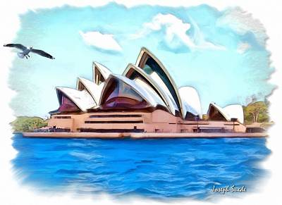 Digital Art - Do-00293 Sydney Opera House by Digital Oil