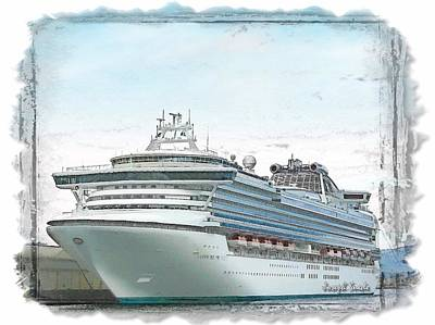 Photograph - Do-00294 Sapphire Princess by Digital Oil