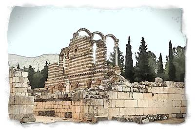 Photograph - Do-00306 Old Ruins In Anjar by Digital Oil