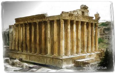 Photograph - Do-00311 The Temple Of Bacchus Baalbeck by Digital Oil