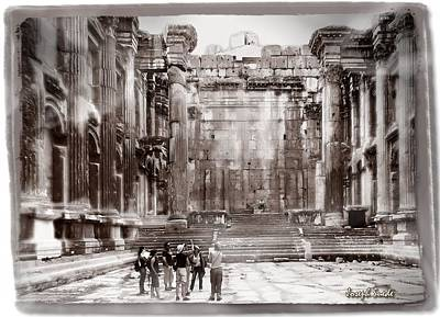 Photograph - Do-00316 Inside The Temple Of  Bacchus - Baalbeck by Digital Oil
