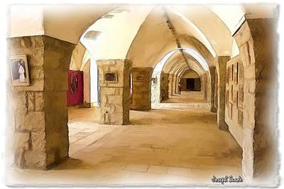 Do-00324 Beiteddine Gallery Art Print by Digital Oil