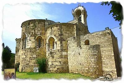 Do-00344 Church Of St John Marcus In Byblos Art Print by Digital Oil