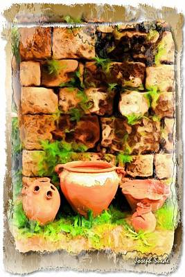 Art Print featuring the photograph Do-00348 Jars In Byblos by Digital Oil