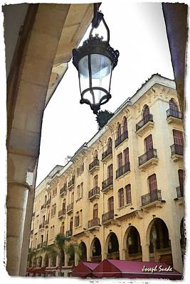 Photograph - Do-00353 Lantern In Downtown by Digital Oil