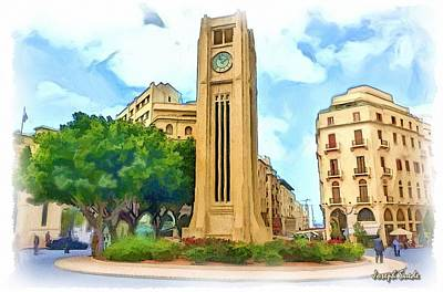 Do-00358 The Clock Tower Art Print by Digital Oil