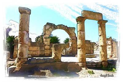 Photograph - Do-00408 Colonnades In Tyr by Digital Oil