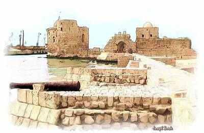 Do-00423 Citadel Of Sidon Art Print by Digital Oil